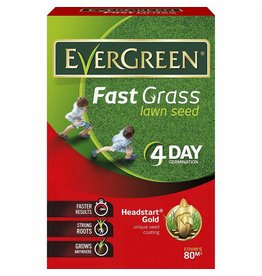 EVERGREEN 2.4KG FAST GRASS LAWN SEED 80M2