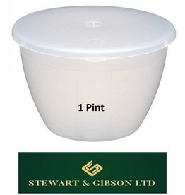 570ML 1 PINT CLEAR PUDDING BASIN & LID