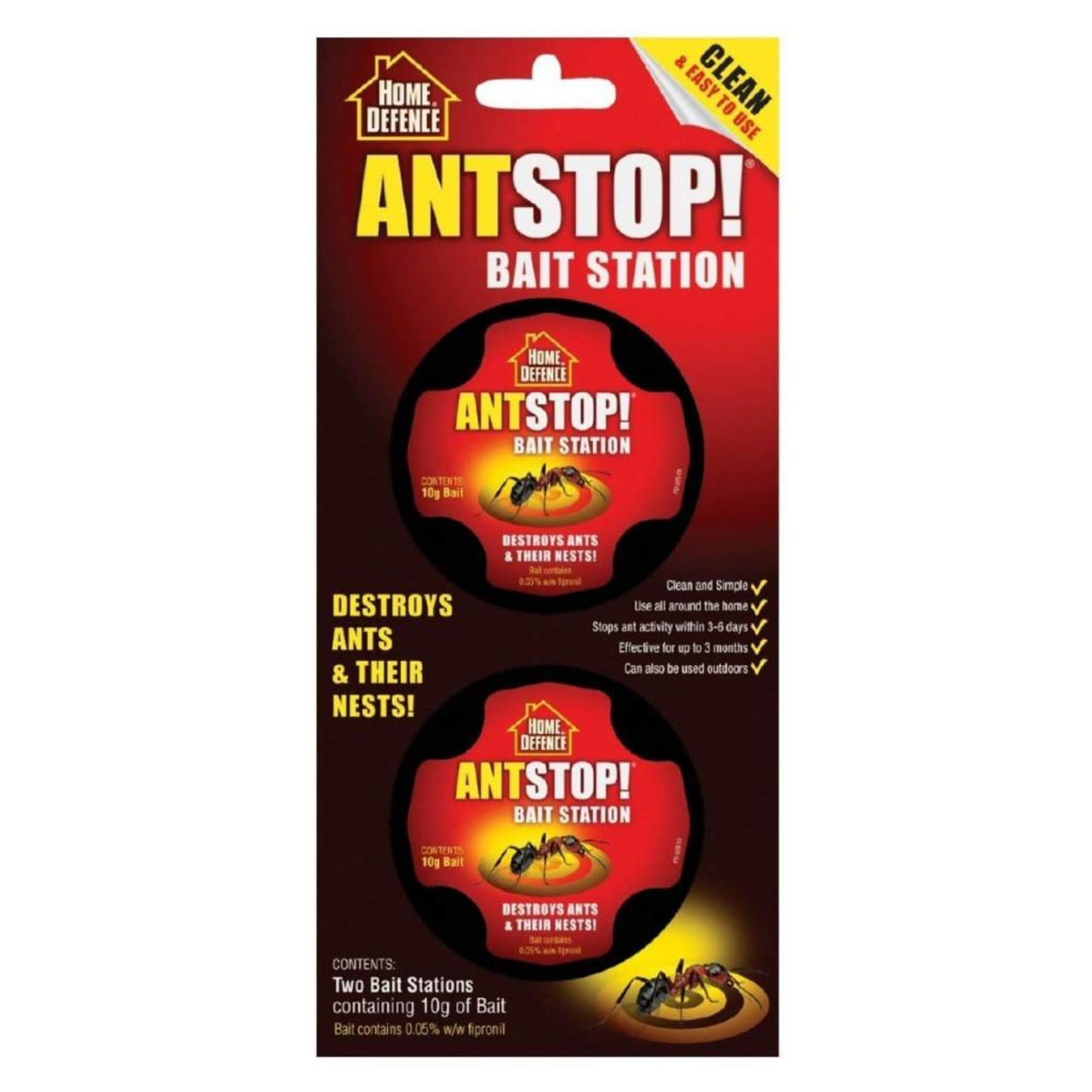 Home Defence Ant Stop Bait Station Pre-Baited Kills Ants & Nests