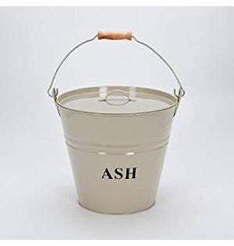 INGLENOOK ING014 ASH BUCKET WITH LID - CREAM