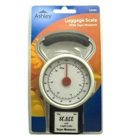 ASHLEY HANGING LUGGAGE SCALE WITH 1M TAPE MEASURE 32KG