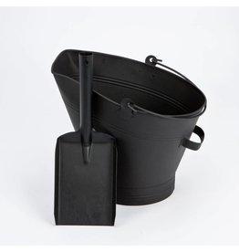 INGLENOOK FIRE81 BLACK COAL WATERLOO BUCKET WITH SHOVEL