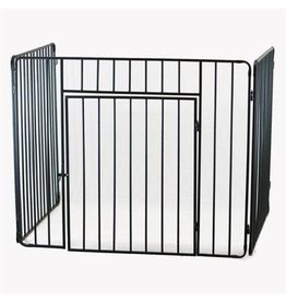 INGLENOOK ING022 STOVE GUARD BLACK WITH GATE