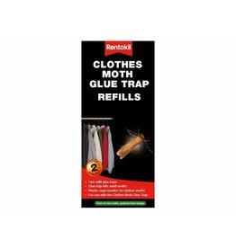 Rentokil RENTOKIL FMP14 CLOTHES MOTH GLUE TRAP REFILLS (PACK OF 2)
