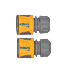 Hozelock HOZELOCK STANDARD SOFT TOUCH HOSE END CONNECTOR TWIN PACK