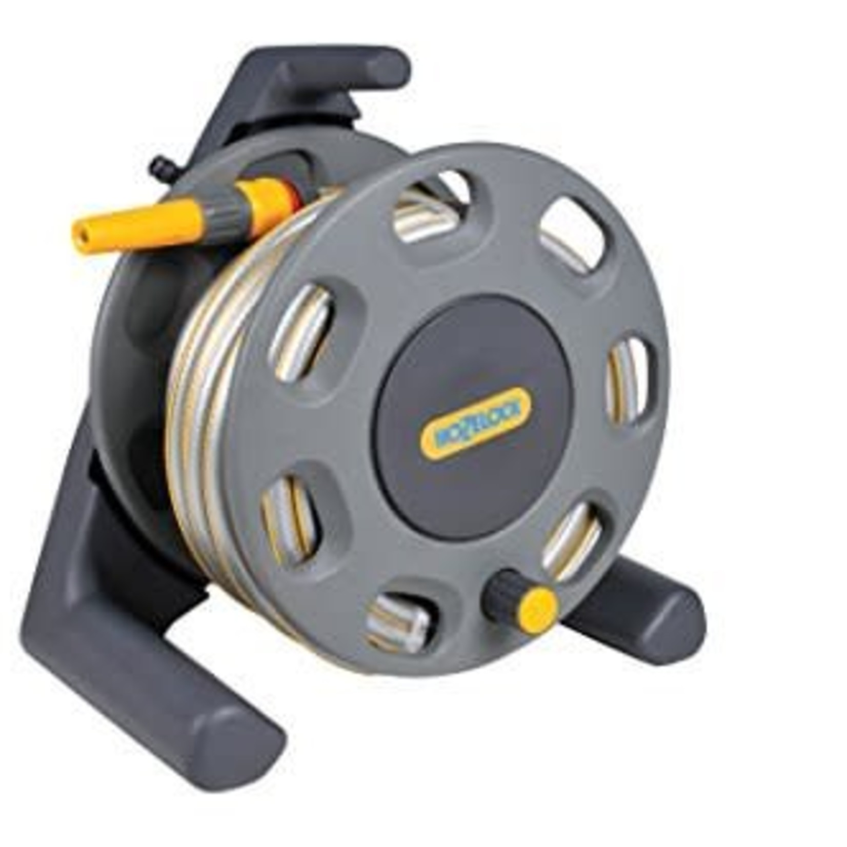 Hozelock 2412 HOZELOCK FREE STANDING 25M HOSE REEL AND HOSE WITH STARTER FITTINGS