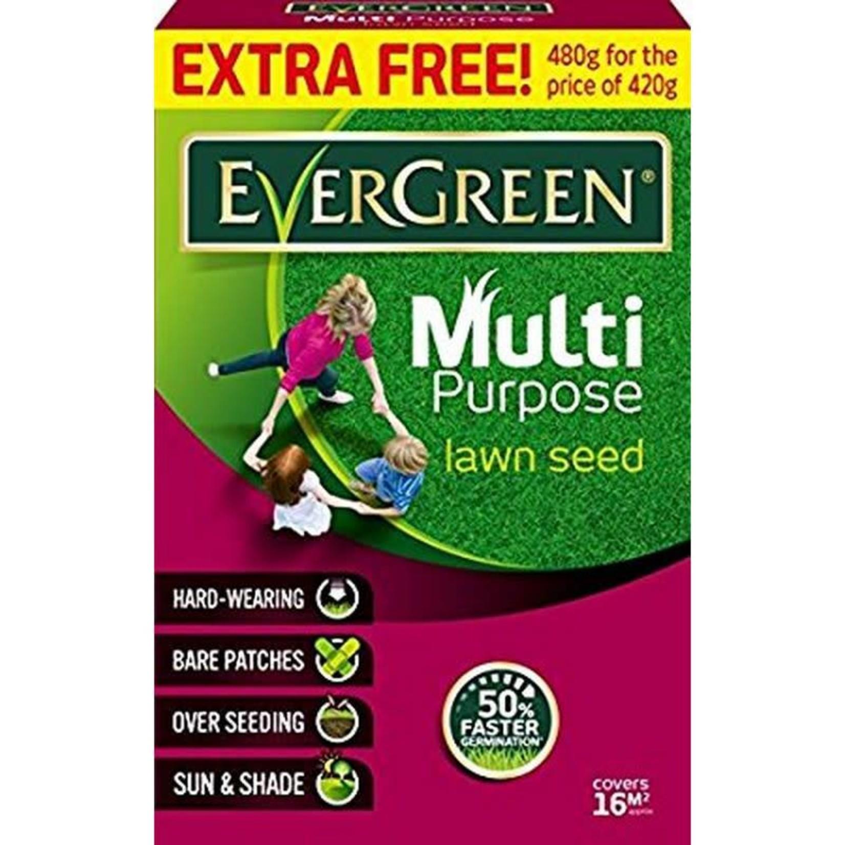 EVERGREEN MULTI-PURPOSE GRASS SEED 480g