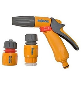Hozelock 2348 HOZELOCK JET SPRAY GUN SET W/H TAP CONNECTOR WATERSTOP AND HOSE END CONNECTOR
