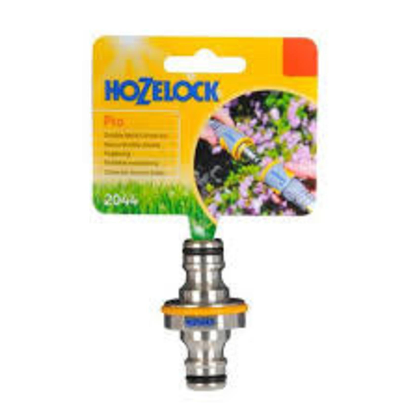 Hozelock 2044 HOZELOCK PRO DOUBLE MALE CONNECTOR METAL