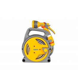 Hozelock 2425 HOZELOCK 10M PICO REEL YELLOW WITH MULTI SPRAY GUN TAP CONNECTOR AND HOSE CONNECTOR