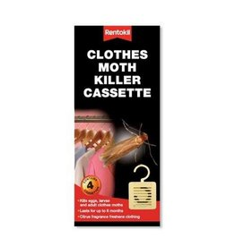 Rentokil RENTOKIL CLOTHES MOTH KILLER CASSETTE 4 PACK