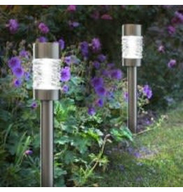 Smart Garden SMART GARDEN MARTINI STAINLESS STEEL STAKE LIGHT, CARRY PACK 4PCS
