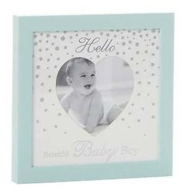 "4"" X 4"" HELLO BABY BOY BLUE FRAME (HELLO BABY BOY)"