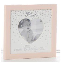 """4"""" X 4"""" HELLO BABY GIRL PINK FRAME (HELLO BABY GIRL)"""