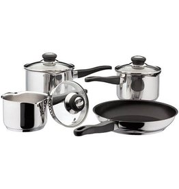 Judge JUDGE VISTA 4 PIECE DRAINING SAUCEPAN SET WITH FRYING PAN