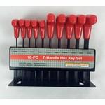 10 Piece T Handle Metric Measurements Allen Hex Keys Set in Holder