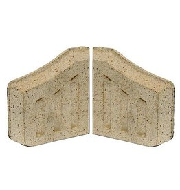 FIRE BRICK SIDES CLAY 2pk