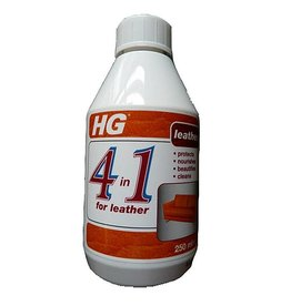HG HG 4 IN 1 LEATHER PROTECTS, NOURISHES, BEAUTIFIES, CLEANS 250ML
