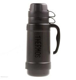 Thermos THERMOS 1.8 LITRE FLASK WITH SOFT GRIP HANDLE BLACK
