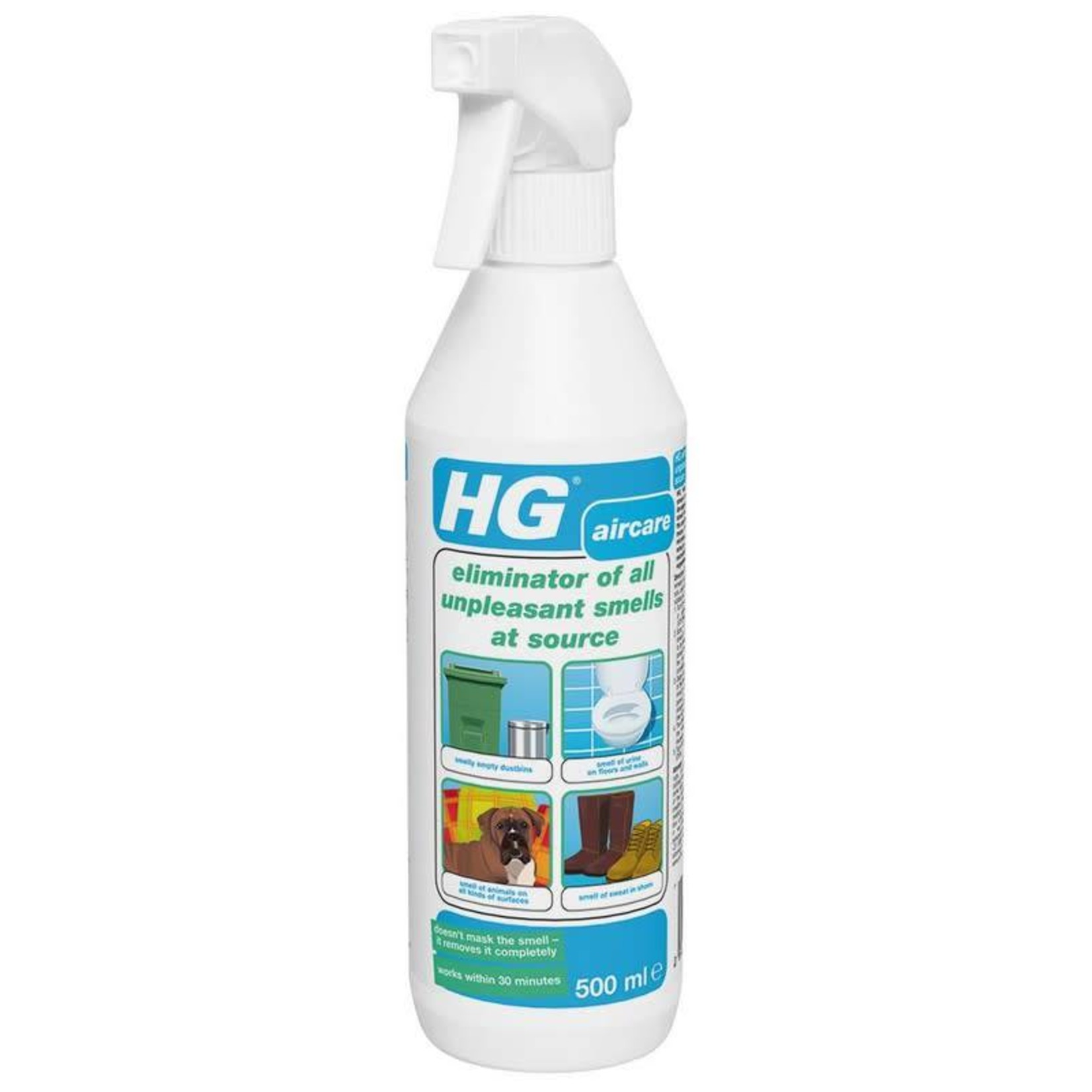 HG HG ELIMINATOR OF ALL UNPLEASANT SMELLS AT SOURCE AIRCARE