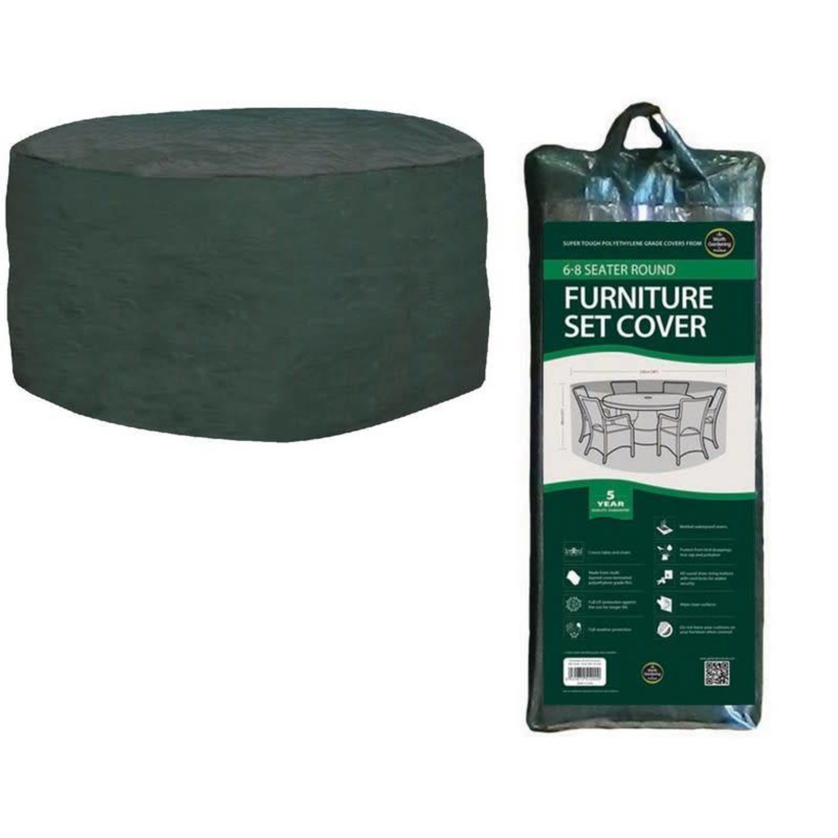 GARLAND 6-8 SEATER ROUND FURNITURE SET COVER GREEN