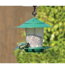 GARLAND LANTERN BIRD SEED & NUT FEEDER GREEN