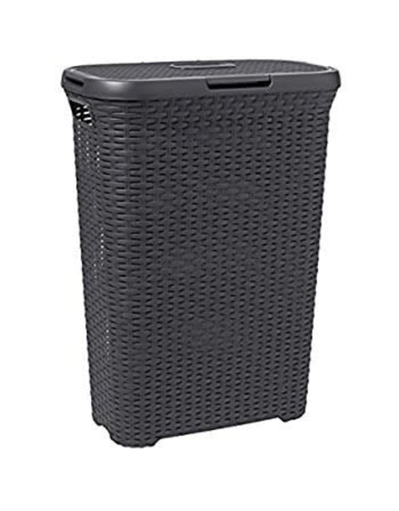 Addis ADDIS RATTAN SLIM LAUNDRY HAMPER CHARCOAL