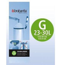 Brabantia BRABANTIA 6 ROLLS X 20 TYPE G 30 LITRE BIN LINERS (120 BAGS IN TOTAL)