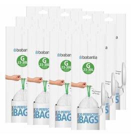 Brabantia BRABANTIA 12 ROLLS OF 20 TYPE G 30 LITRE BIN LINERS (240 BAGS IN TOTAL)