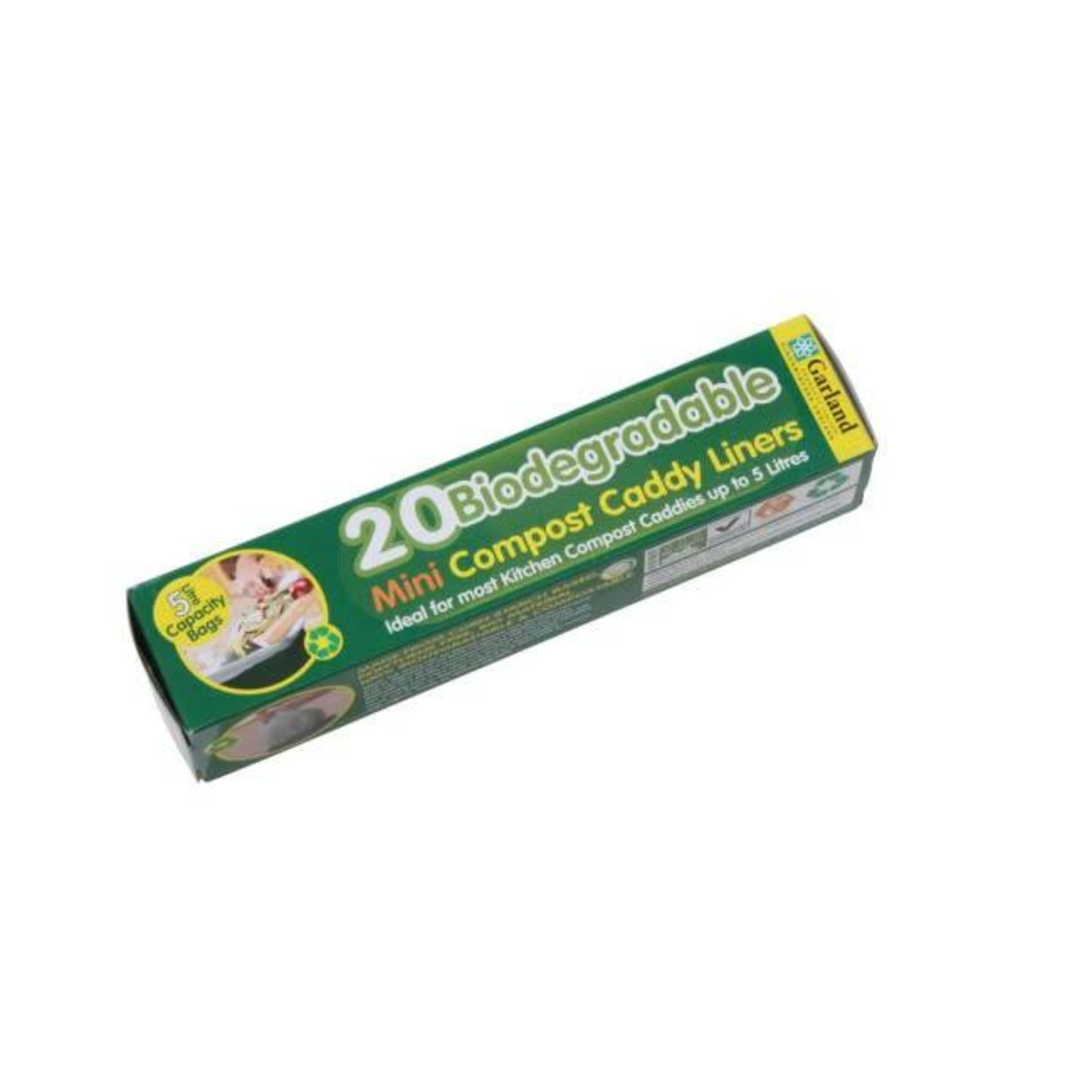 GARLAND BIODEGRADABLE 5LT COMPOST CADDY LINERS (20 PER ROLL)