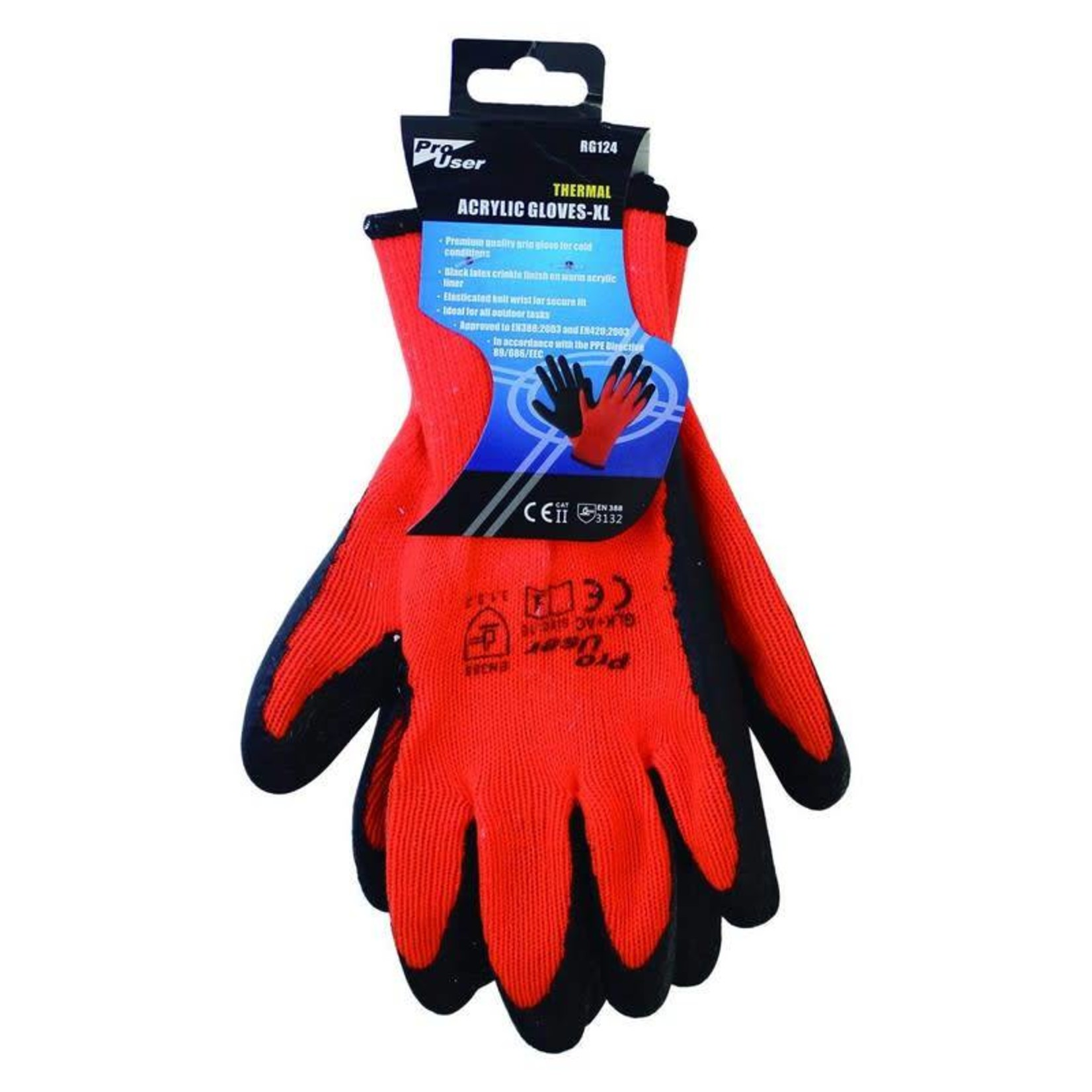 PRO USER THERMAL ACRYLIC GLOVES EXTRA LARGE