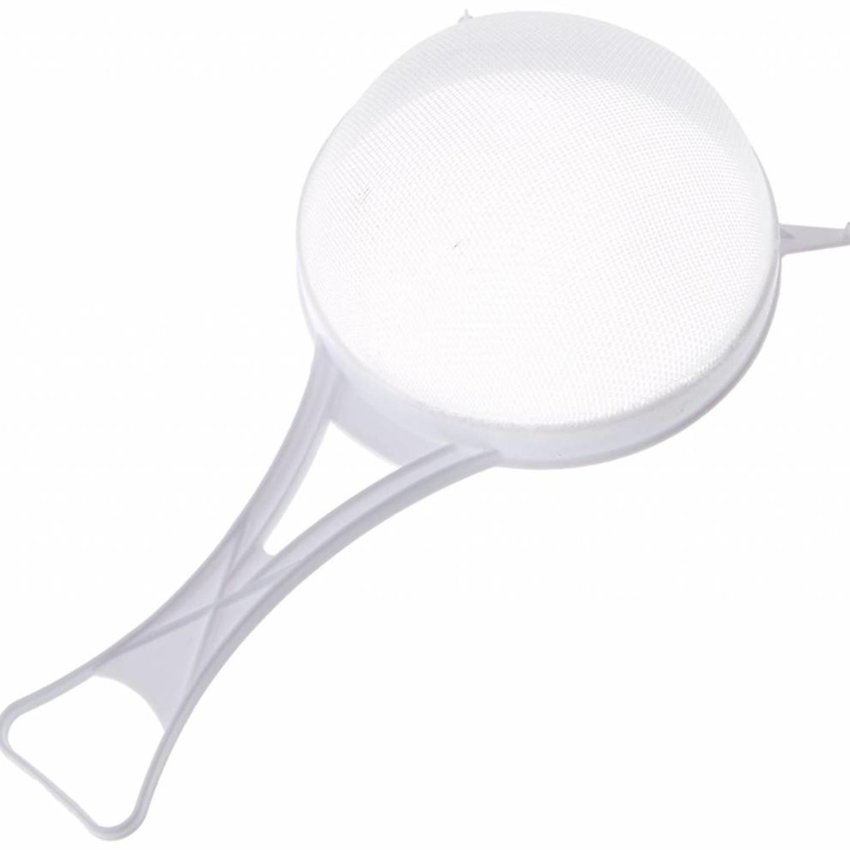 CHEF AID 15CM WHITE PLASTIC STRAINER SIEVE