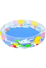 SPLASH AND PLAY INFALTABLE PADDLING POOL OCEAN DESIGN 91*20CM
