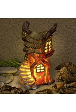 THE HOME OF SHADOW FIREFALL WITCH 24CM SOLAR LIGHT ORNAMENT