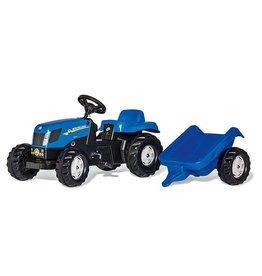 Rolly ROLLY NEW HOLLAND T7040 RIDE ON TRACTOR WITH TRAILER AGES 2.5-5