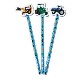 TRACTOR TED PENCIL & ERASER TOPPER (DISPLAY OF 24)