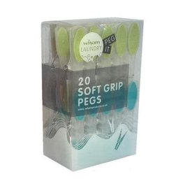 Wham WHAM LAUNDRY PACK OF 20 SOFT GRIP PEGS