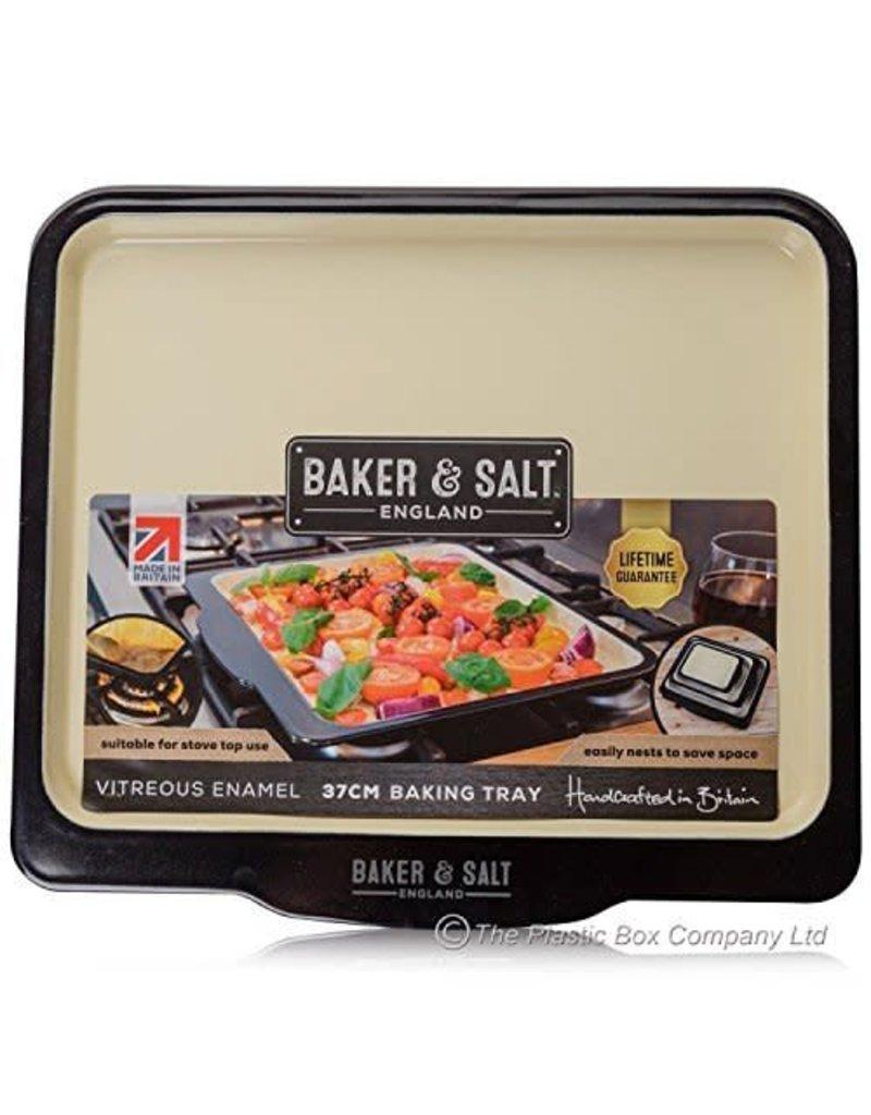 BAKER & SALT VITREOUS ENAMEL 37CM BAKING TRAY