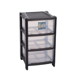 Wham WHAM BLACK 3 TEIR STORAGE BOX