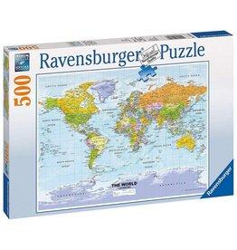 Ravensburger Political World Map 500 pc Puzzle