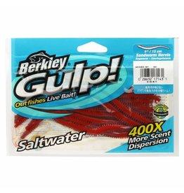 """Gulp Sandworm 6"""" Dark Brown Sea Bait"""