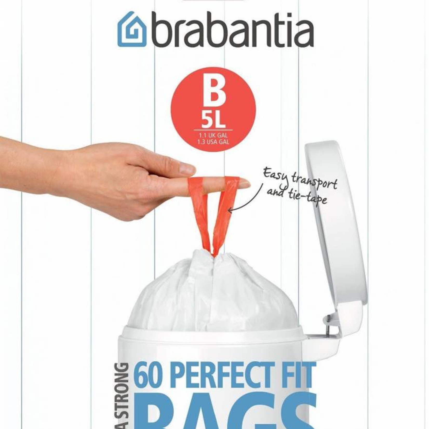 Brabantia BRABANTIA PERFECTFIT BAGS B, 5 LITRE [DISPENSER PACK OF 60 BAGS]
