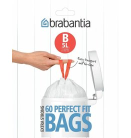 Brabantia BRABANTIA PERFECTFIT BAGS B, 5 LITRE [DISPENSER PACK OF 60 BAGS]