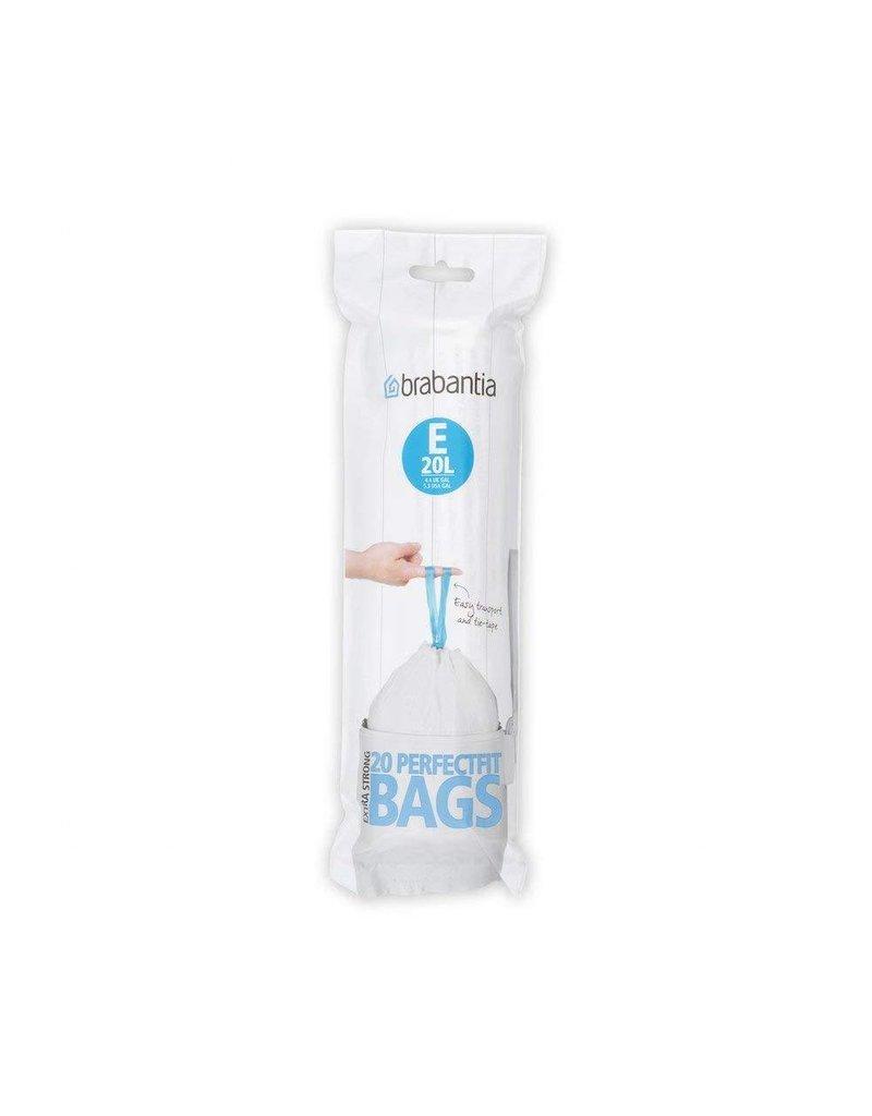 Brabantia BRABANTIA PERFECT FIT BIN BAGS E, 20 LITRE [20 BAGS PER ROLL]