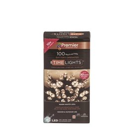 PREMIER 100 M-A BATTERY WARM WHITE LED LIGHTS WITH TIMER