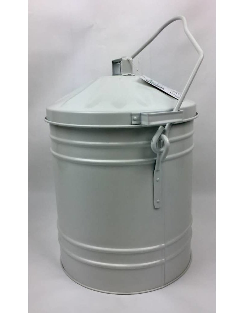 ROUND TOWER IVORY ASH BIN BUCKET WITH LID