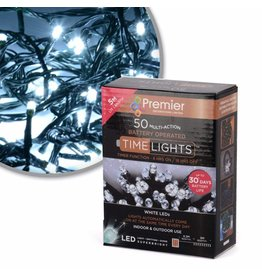 50 M-A B-O White LED Lights With Timer