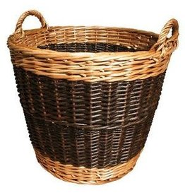 MANOR LOG BASKET TWO TONE SMALL - 40