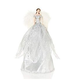 28cm Silver Tree Top Fairy in PVC Box
