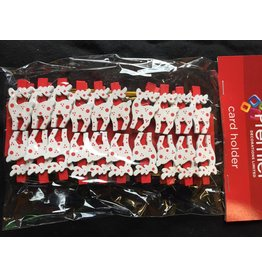 20pc Tree and Reindeer Peg Card Holders - Asst